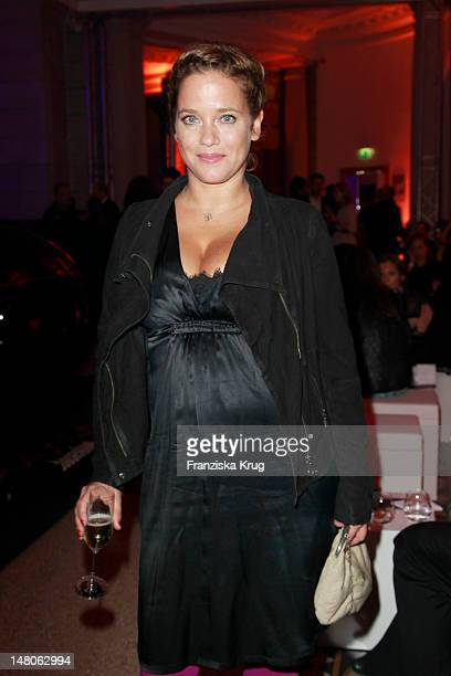 Muriel Baumeister attends 'ARD Degeto Blue Hour' Party in the Museum of communication in Berlin on February 11 2012 in Berlin Germany