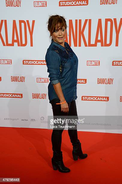 Muriel Baumeister attends 'Banklady' Premiere at Kino International on March 17 2014 in Berlin Germany