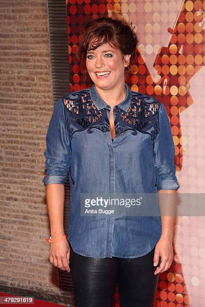 Muriel Baumeister attends the 'Banklady' premiere at Kino International on March 17 2014 in Berlin Germany