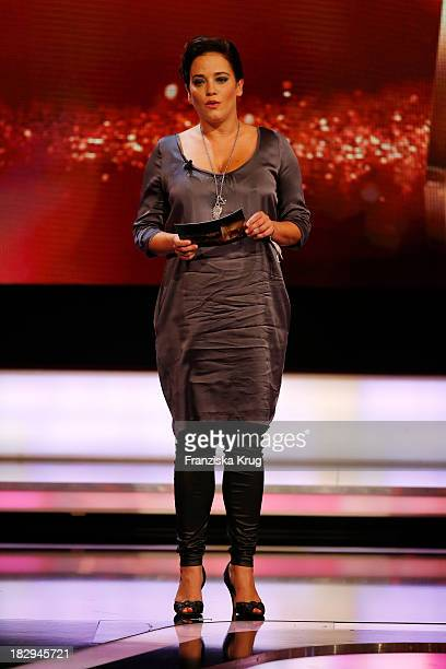 Muriel Baumeister attends the Deutscher Fernsehpreis 2013 Show at Coloneum on October 02 2013 in Cologne Germany The show will be aired in German...