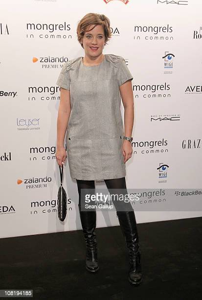 Muriel Baumeister attends the Mongrels in Common Show during the Mercedes Benz Fashion Week Autumn/Winter 2011 at Altes Stadthaus on January 20 2011...