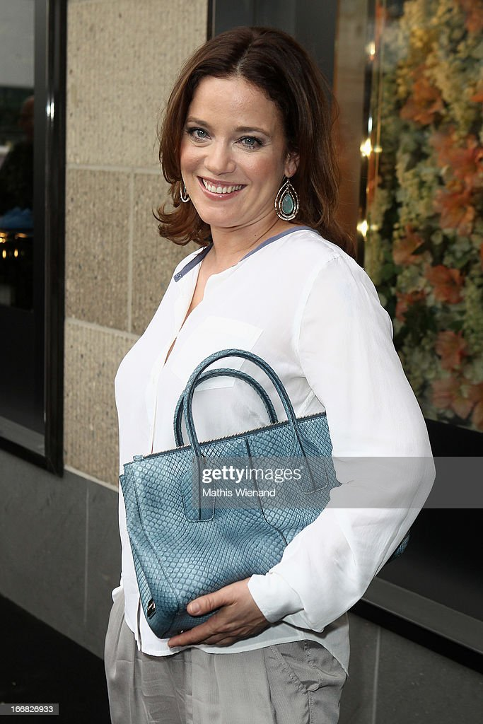 Muriel Baumeister attends Tod's D.D. Bag Collection Presentation at Tod's Store at Koenigsalle 12 on April 17, 2013 in Duesseldorf, Germany.