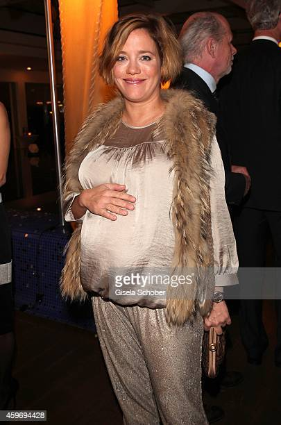 Muriel Baumeister pregnant during the ARD advent dinner hosted by the program director of the tv station Erstes Deutsches Fernsehen at Hotel...