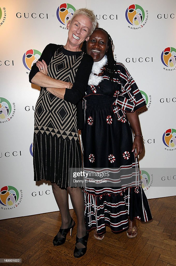 Muriel Grey and Jane Njoki Peris attend the mothers2mothers cocktail party to celebrate reaching one million mothers in partnership with GUCCI at One Marylebone on October 3, 2013 in London, England.