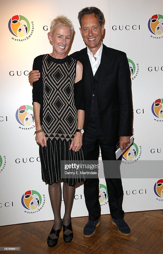 Muriel Grey and Richard E Grant attend the mothers2mothers cocktail party to celebrating reaching one million mothers in partnership with GUCCI at One Marylebone on October 3, 2013 in London, England.