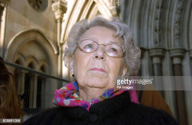 Muriel Jakubait the sister of Ruth Ellis who was the last woman to be hanged in Britain leaves the Royal Courts of Justice London in disappointment...
