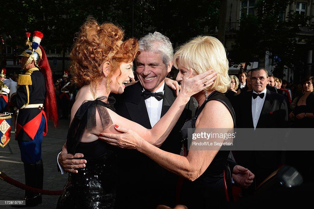 Muriel Mayette, Claude Serillon and his companion attend the Le Grand Bal De La Comedie Francaise at La Comedie Francaise on July 4, 2013 in Paris, France.