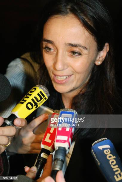Muriel OuaknineMelki lawyer of the Douieib's family victim of the gang who abducted tortured and murdered on January 2006 Ilan Halimi speaks to the...
