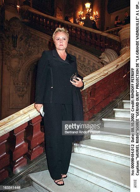 Muriel Robin'Gerard Oury' film screening of 'La Grande Vadrouille' at the Garnier opera