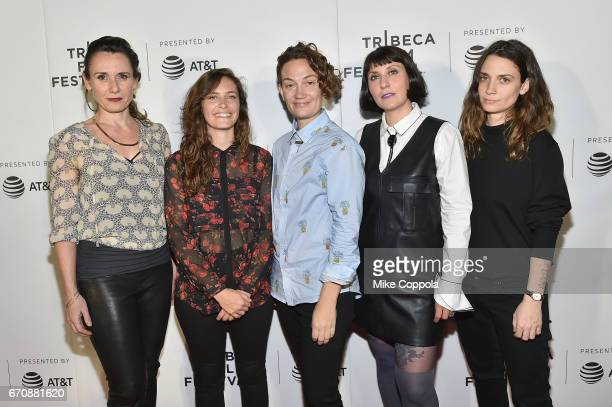Muriel Soenens Lauren Cioffi Rosie Haber Thalia LoMiaros and Rosalina Mairhue of the film 'House of Jackson' attend the Tribeca NOW Showacase during...