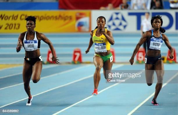 Murielle AHOURE / Veronica CAMPBELL BROWN / Tianna MADISON 60m Championnats de Monde d'Athletisme en Salle Atakoy Athletics Arena Istanbul Photo Dave...