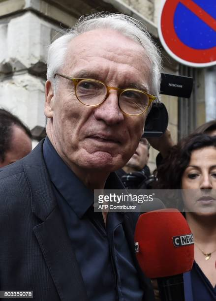 Murielle Bolle's lawyer JeanPaul Teissonniere answers journalists' questions outside the courthouse of Dijon on June 29 where Murielle Bolle is being...