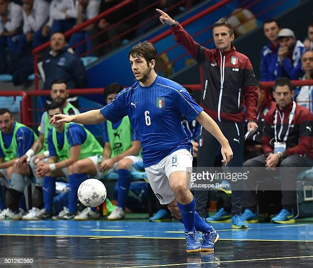 Murilo of Italy in action during the FIFA Futsal World Cup Qualifying match between Italy and Macedonia on December 10 2015 in Bari Italy
