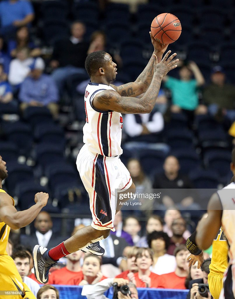 Murphy Holloway #31 of the Ole Miss Rebels shoots the ball against the Missouri Tigers during the quarterfinals of the SEC Baketball Tournament at Bridgestone Arena on March 15, 2013 in Nashville, Tennessee.