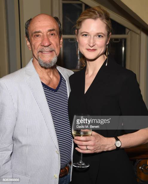 Murray Abraham and Naomi Frederick attend the press night after party for 'The Mentor' at Browns Covent Garden on July 4 2017 in London England