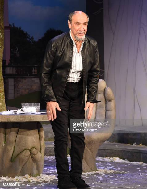 Murray Abraham bows at the curtain call during the press night performance of 'The Mentor' at The Vaudeville Theatre on July 4 2017 in London England