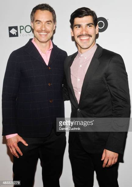 Murray Bartlett and Raul Castillo attend the 2014 Point Honors New York gala at New York Public Library on April 7 2014 in New York City