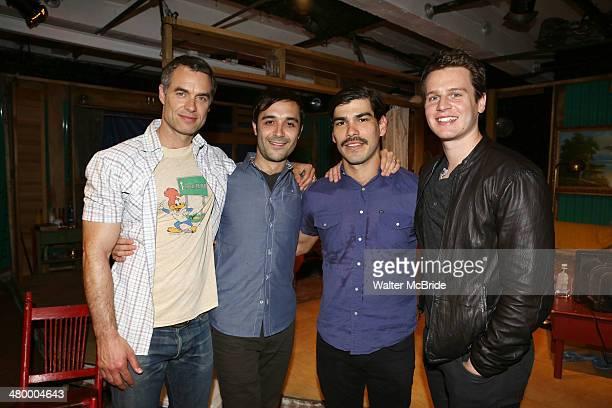 Murray Bartlett Frankie J Alvarez Raul Castillo and Jonathan Groff from HBO's 'Looking' visit Raul Castillo and the cast of 'Adoration of the Old...