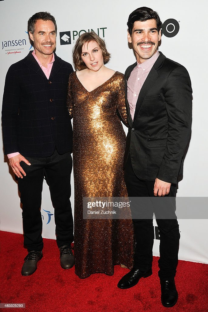 Murray Bartlett, <a gi-track='captionPersonalityLinkClicked' href=/galleries/search?phrase=Lena+Dunham&family=editorial&specificpeople=5836535 ng-click='$event.stopPropagation()'>Lena Dunham</a> and Raul Castillo attend the 2014 Point Honors New York gala at New York Public Library on April 7, 2014 in New York City.