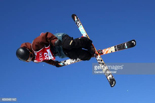 Murray Buchan of Great Britain competes in the FIS Freestyle World Cup Ski Halfpipe Qualification at Bokwang Snow Park on February 16 2017 in...