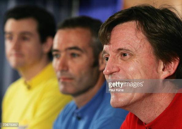 Murray cook of the wiggles talks to the media during a press