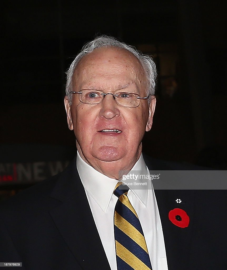 Murray Costello walks the red carpet prior to the 2013 Hockey Hall of Fame induction ceremony on November 11, 2013 in Toronto, Canada.