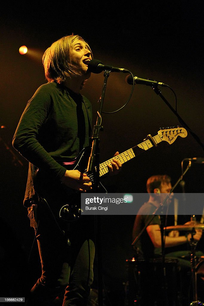 Murray Macleod of The Xcerts performs at Brixton Academy on November 23, 2012 in London, England.