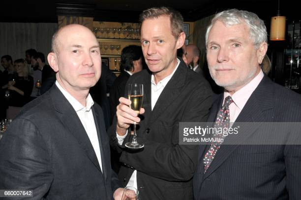 Murray Moss Neil Logan and Glenn O'Brien attend Established Sons Dinner at The Monkey Club on May 15 2009 in New York City
