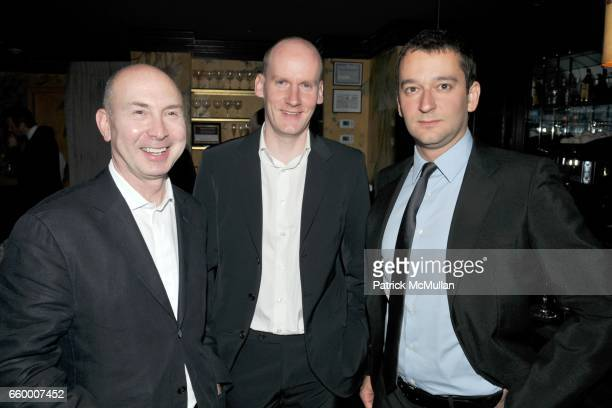 Murray Moss Sebastian Wrong and Stefano Pirovano attend Established Sons Dinner at The Monkey Club on May 15 2009 in New York City