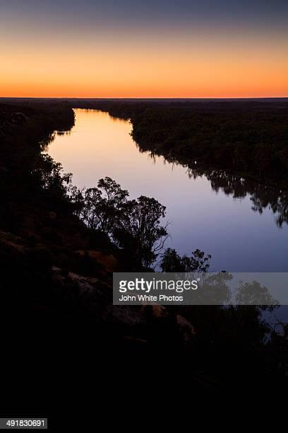 Murray River sunset. Renmark. South Australia.