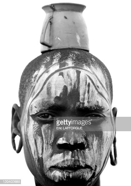 Mursi tribe in Ethiopia on October 25 2008 Mursi can be found in the land between the Omo and Mago rivers Neighbored by the Surma Ari Kwegu and Karo...