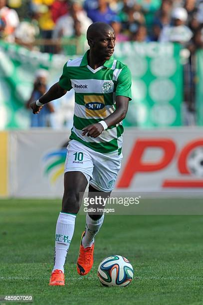 Musa Bilankulu for Cetics in action during the Absa Premiership match between Bloemfontein Celtic and Orlando Pirates at Free State Stadium on April...