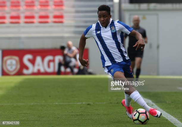 Musa Yahaya of FC Porto B in action during the Segunda Liga match between SL Benfica B and FC Porto B at Caixa Futebol Campus on April 23 2017 in...