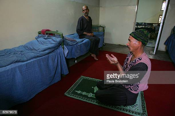 Musagul prays at the Nejat Center during the two week detoxification drug rehabilitation program May 25 2005 in Kabul Afghanistan The Nejat Center is...