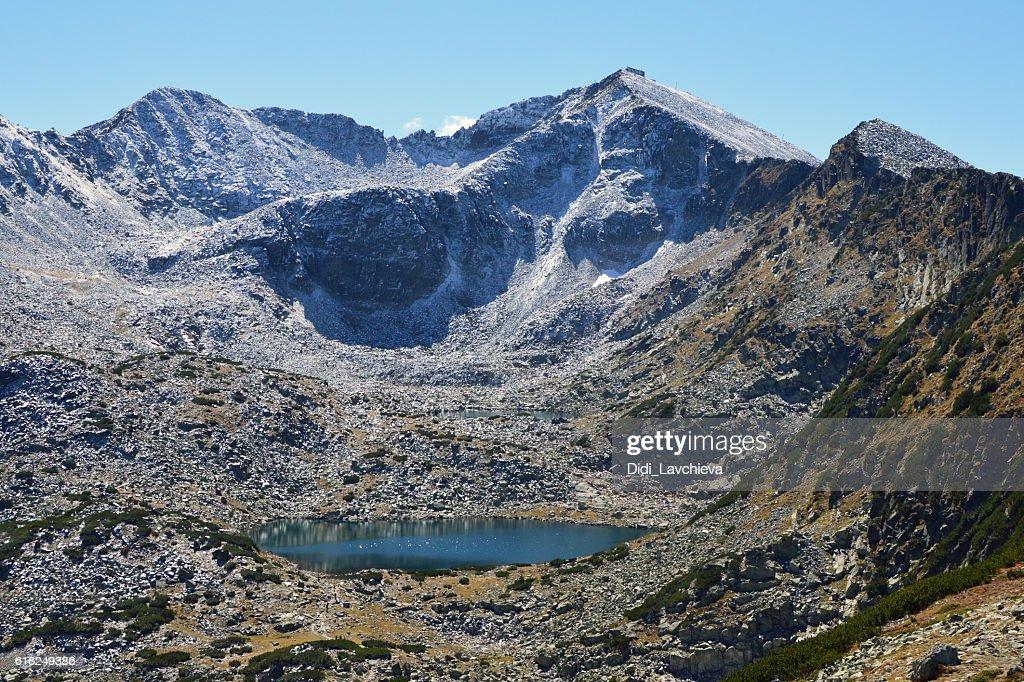 Musala, Rila Mountain, Bulgaria, the highest peak in the Balkans : Foto de stock