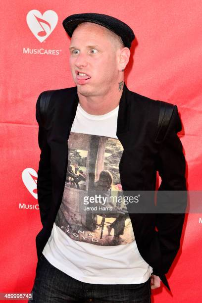 Muscian Corey Taylor arrives at the 2014 MusiCares MAP Fund Benefit Concert at Club Nokia on May 12 2014 in Los Angeles California