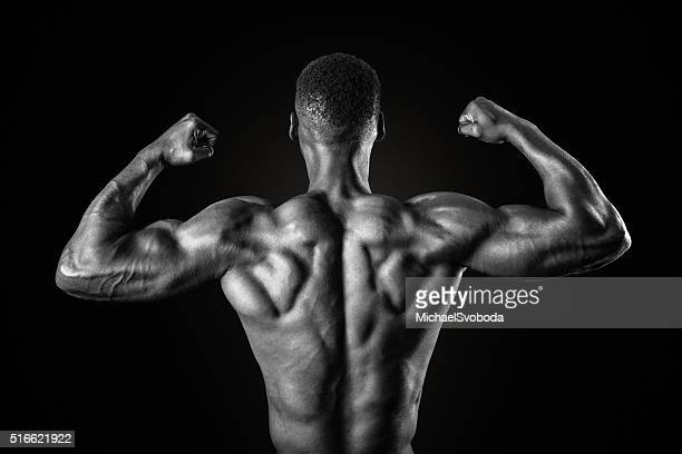 Muscular African American Man In Black and White