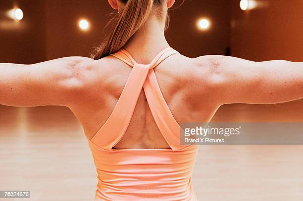 Muscular back of woman
