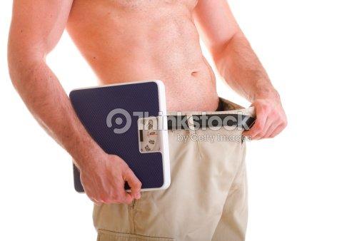 Muscular escala macho de cuerpo aislado sobre blanco : Foto de stock