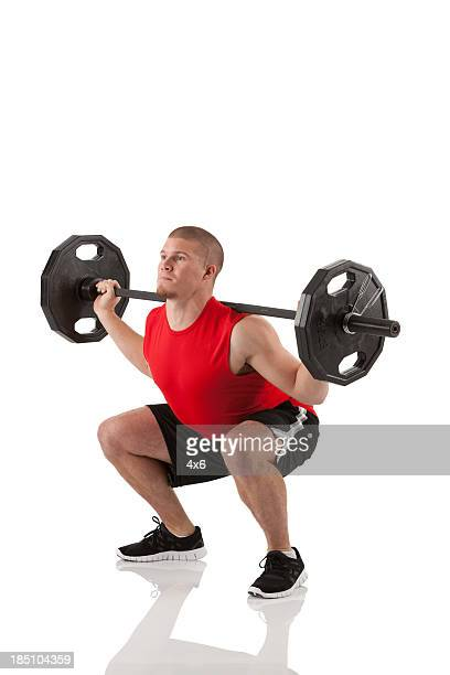 Musculaire homme de musculation
