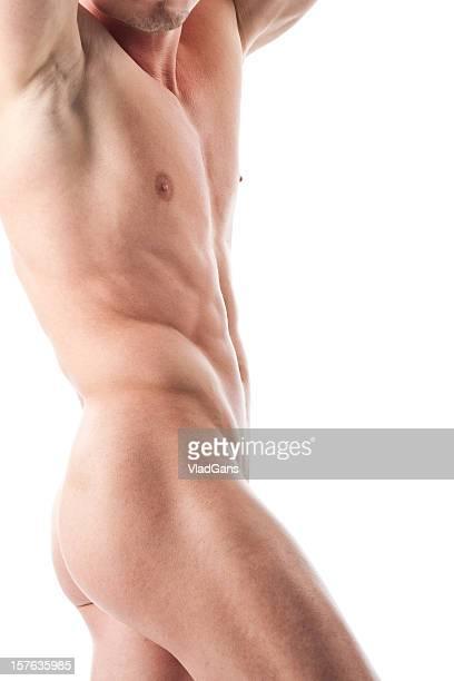 Musculaire homme nu dans le dos