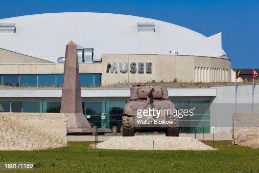 Musee Utah Beach museum, building exterior : Stock Photo