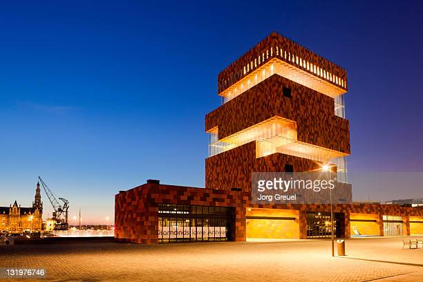 Museum aan de Stroom at dusk
