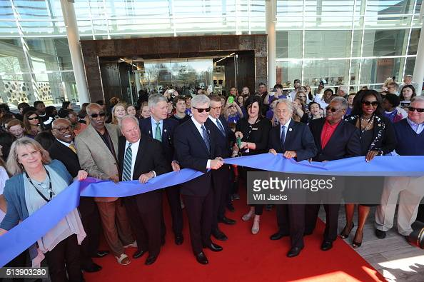 Museum and state officials including Governor Phil Bryant GRAMMY Executive Director Bob Santelli and The Recording Academy President and CEO Neil...