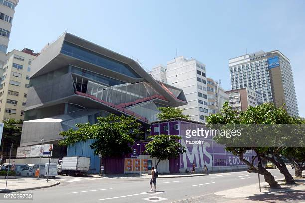 Rio de Janeiro, Brazil - November 27, 2016: View of Avenida Atlantica in Copacabana with the building under construction of the new MIS - Museum of Image and Sound.
