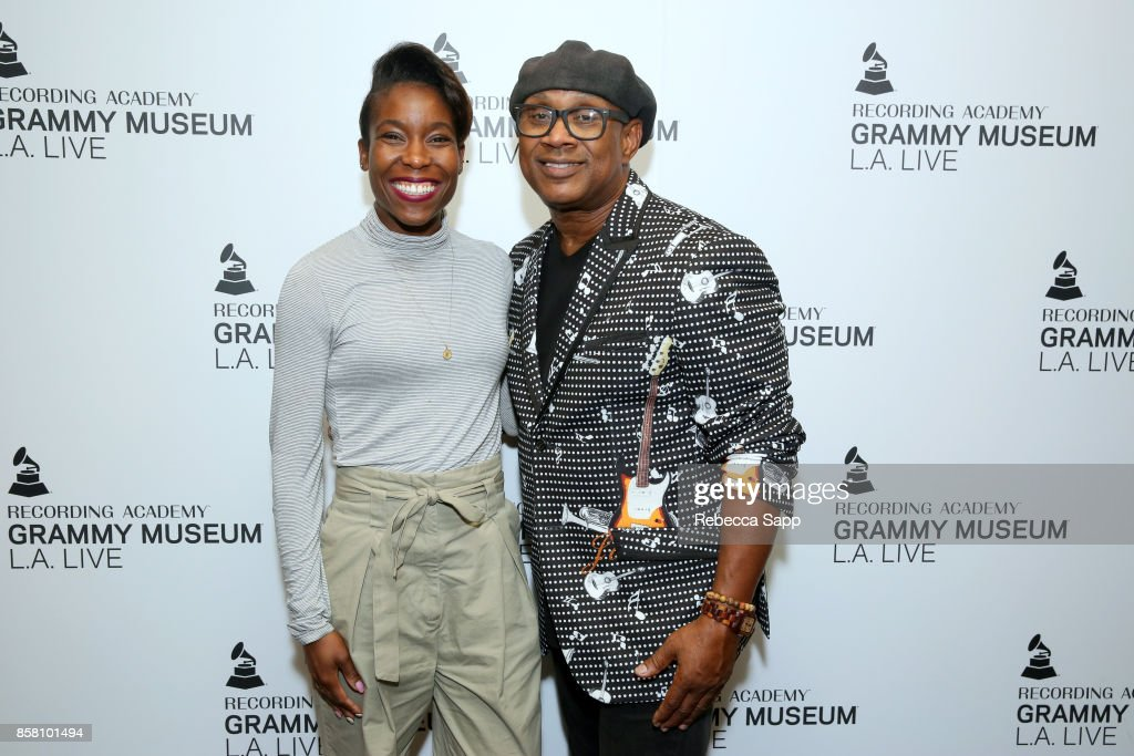 Museum Curator Nwaka Onwusa and Melvin Williams attend An Evening With Melvin Williams at The GRAMMY Museum on October 5, 2017 in Los Angeles, California.
