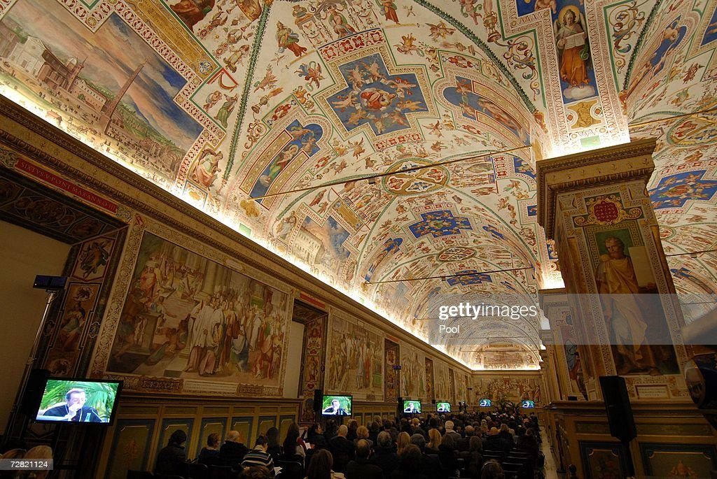 Museum directors attend the opening of the worldwide biggest Museum Congress at the Sistine Chapel December 13 in Vatican City