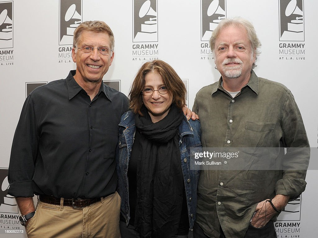 Museum executive director Bob Santelli, producer Robin Klein and director Mick Gochanaur pose before Reel to Reel: Rolling Stones 1965 Charlie Is My Darling at The GRAMMY Museum on October 3, 2013 in Los Angeles, California.