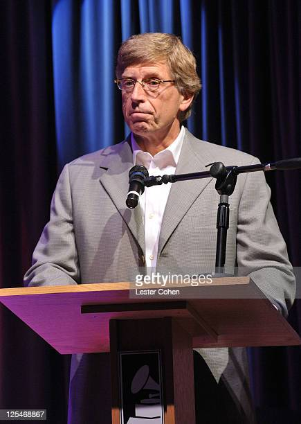 Museum executive director Robert Santelli speaks at 'An Evening with Jimmy Webb' at the Clive Davis Theater at The GRAMMY Museum on October 20 2010...