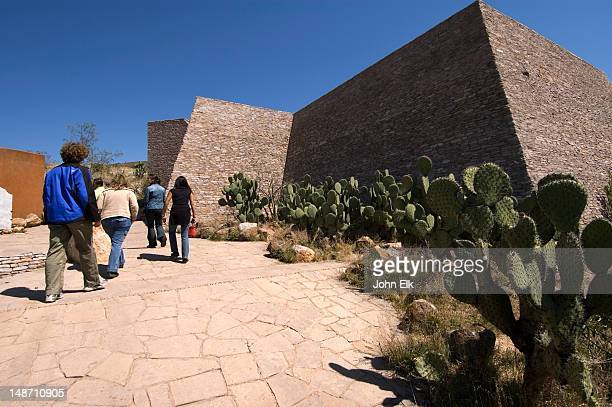 Museum exterior of pre-Columbian archaeology site.